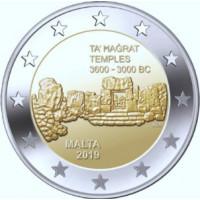 Malta 2019 Ta' Hagrat Temple Kalyklos ženklas F