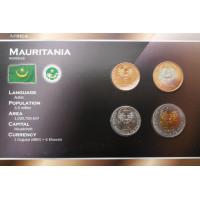 Mauritanija 2009-2010 metų monetų rinkinys lankstinuke