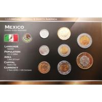 Meksikas 2001-2008 metų monetų rinkinys lankstinuke