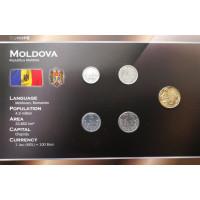 Moldova 2006-2008 metų monetų rinkinys lankstinuke