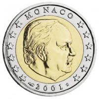 Monakas 2001 2 eurai
