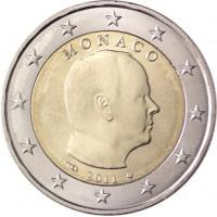 Monakas 2011 2 eurai