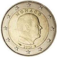 Monakas 2012 2 eurai