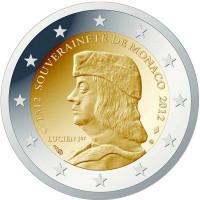 Monakas 2012 500-osios Monako Kunigaikštystės įkūrimo metinės (įkūrėjas – Lucien I GRIMALDI)