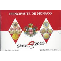 Monakas 2013 Euro monetų BU rinkinys su progine 2 eurų moneta