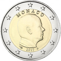 Monakas 2017 2 eurai