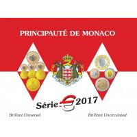 Monakas 2017 Euro monetų BU rinkinys