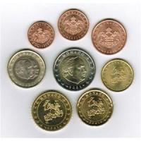 Monakas 2001 Euro monetų UNC rinkinys