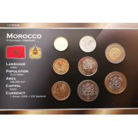 Marokas 2002 metų monetų rinkinys lankstinuke