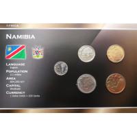 Namibija 1993-2008 metų monetų rinkinys lankstinuke