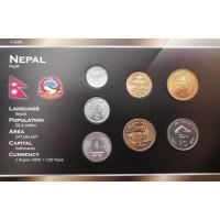 Nepalas 2002-2006 metų monetų rinkinys lankstinuke