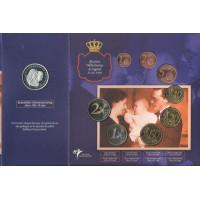 Olandija 2003 Euro monetų BU rinkinys su sidabriniu medaliu