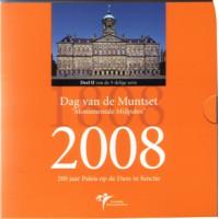 Olandija 2008 Euro monetų BU rinkinys su sidabriniu medaliu