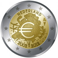 Olandija 2012 Eurų banknotų ir monetų dešimtmetis