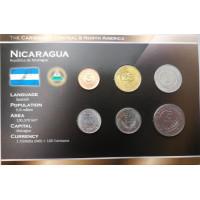 Nikaragva 1997-2007 metų monetų rinkinys lankstinuke