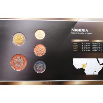 Nigerija 1991-2006 metų monetų rinkinys lankstinuke