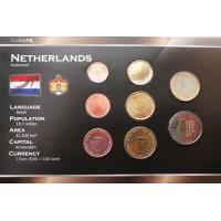 Nyderlandai 1999-2003 metų monetų rinkinys lankstinuke