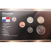 Panama 2008 metų monetų rinkinys lankstinuke