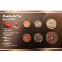 Papua Naujoji Gvinėja 2004-2005 metų monetų rinkinys lankstinuke