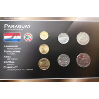 Paragvajus 1992-2006 metų monetų rinkinys lankstinuke