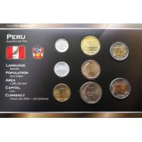 Peru 2009-2011 metų monetų rinkinys lankstinuke
