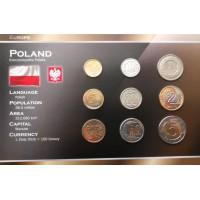 Lenkija 1995-2009 metų monetų rinkinys lankstinuke