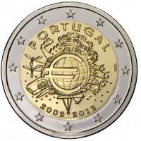 Portugalija 2012 Eurų banknotų ir monetų dešimtmetis