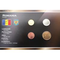 Rumunija 2005-2007 metų monetų rinkinys lankstinuke