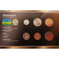 Ruanda 2003-2006 metų monetų rinkinys lankstinuke
