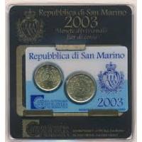 San Marinas 2003 Mini rinkinys kortelėje