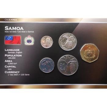 Samoa 2002-2006 metų monetų rinkinys lankstinuke