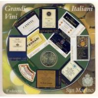 San Marinas 2007 50 centų kortelėje su papildomais 10 pašto ženklų