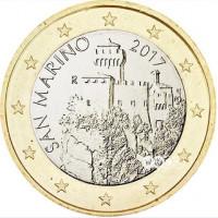 San Marinas 2017 1 euras