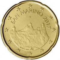 San Marinas 2017 0,20 centų