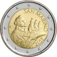 San Marinas 2017 2 eurai