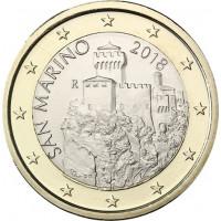 San Marinas 2018 1 euras