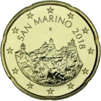 San Marinas 2018 0,20 centų