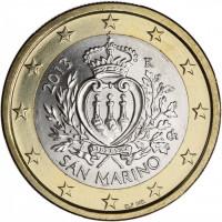 San Marinas 2013 1 euras
