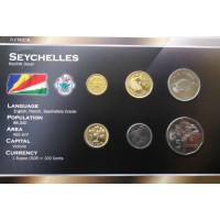 Seišeliai 2003-2007 metų monetų rinkinys lankstinuke