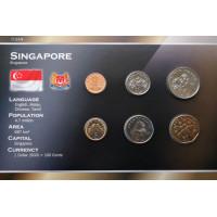 Singapūras 2001-2010 metų monetų rinkinys lankstinuke