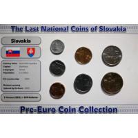 Slovakija 2001-2007 metų monetų rinkinys lankstinuke