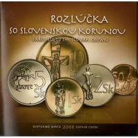 Slovakija 2008 BU rinkinys Atsisveikinimas su krona