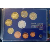 Slovakija 2009 Euro monetų PROOF LIKE rinkinys su sidabriniu medaliu