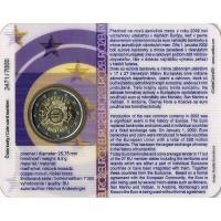 Slovakija 2012 Eurų banknotų ir monetų dešimtmetis kortelėje