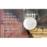 Slovėnija 2010 3 eurai Pasaulio knygų sostinė (BU)
