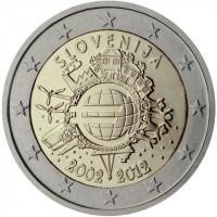 Slovėnija 2012 Eurų banknotų ir monetų dešimtmetis