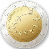 Slovėnija 2017 10 metų nuo euro įvedimo Slovėnijoje