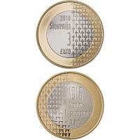Slovėnija 2018 3 eurai 100-osios Pirmojo pasaulinio karo pabaigos metinės
