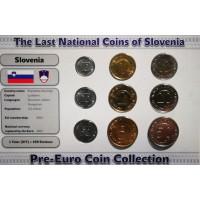 Slovėnija 1992-2005 metų monetų rinkinys lankstinuke