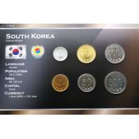 Pietų Korėja 1983-2007 metų monetų rinkinys lankstinuke